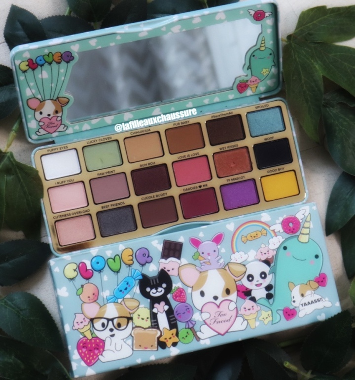 TOO FACED CLOVER EYESHADOW PALETTE REVUE ET SWATCHES