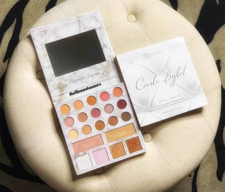 BH Cosmetics Carli Bybel Deluxe Edition Eyeshadow & Highlighter Palette – Revue &Swatches