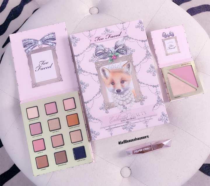 Too Faced Enchanted Beauty Foxy Neutrals Coffret de Noël Revue &Swatches