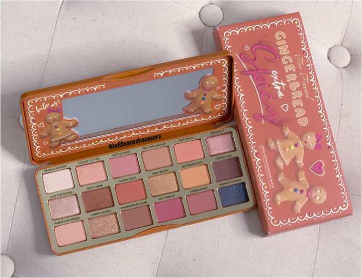 Too Faced Gingerbread Extra Spicy Eyeshadow Palette Revue & Swatches