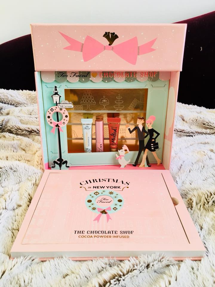 Too Faced – Christmas In New-York The Chocolate Shop Cacao Powder Infused Revue &Swatches